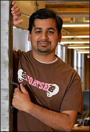 Anil Dash wearing GOATSE t-shirt in New York Times
